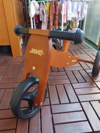 Rowerek Milly Mally Jake 2w1 biegowy, jeździk, rower brązowy drewniany
