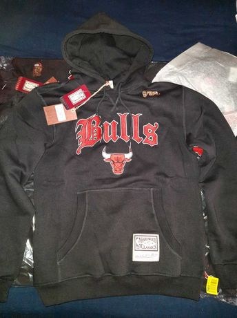 Bluza z kapturem Chicago Bulls NBA Mitchell&Ness