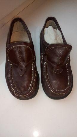 Туфли кож.новые,темно-коричневые