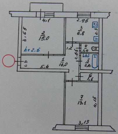 Продам 2 к/квартиру 51 м2 МЕБЕЛЬ + ПОДВАЛ