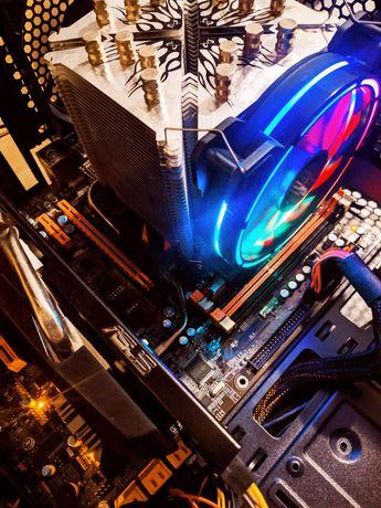 Budżetowy komputer Gamingowy  Intel Core i7   Radeon   Win10 PRO   RGB