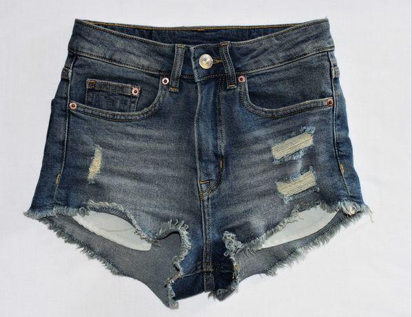 Spodenki jeansowe szorty Divided/H&M rozm. 32 elastyczne