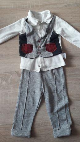 komplet kaftanik z kamizelka+spodnie / chrzest/ wesele/ impreza 6_9 mc