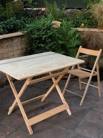 Стол складной туристический для пикника раскладной торговый деревянный