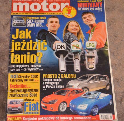 Motor stare czasopisma motoryzacyjna nr 40 z 2004 roku