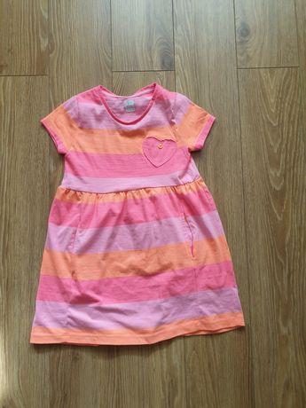 Sukienka r 116 neonowa 5 10 15