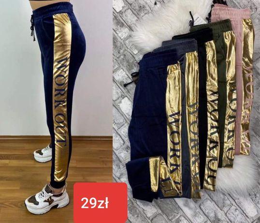 HIT! Spodnie WELUROWE Kolory L XL %