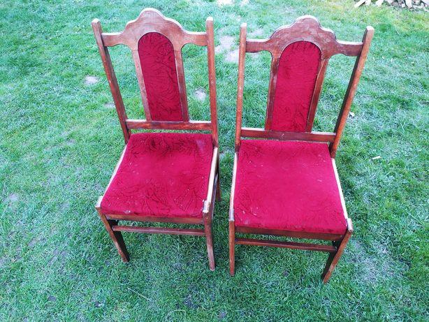 Krzesła czerwone