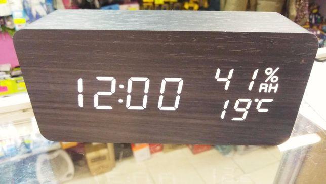 Цифровые часы VST 872s влажность время декорированы интерьер