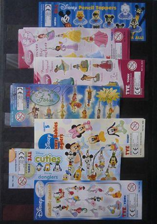 Karteczki od figurek TOMY,RIVIVA,kinder joy ,NESTLE i maxi kinder.