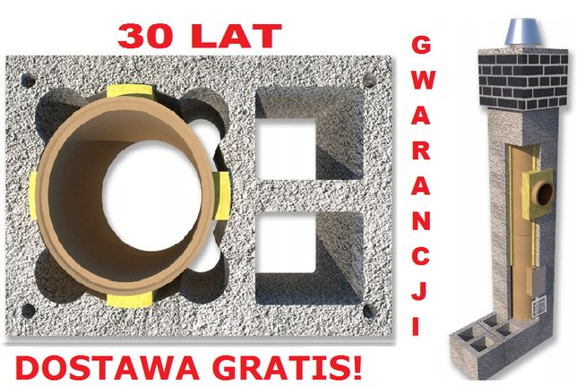 Komin 6m fi 200 Komin systemowy Ceramiczny Dostawa Gratis !!PROMOCJA