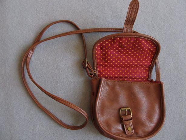 brązowa CLOCKHOUSE nowa torebka damska mini na pasku mała malutka