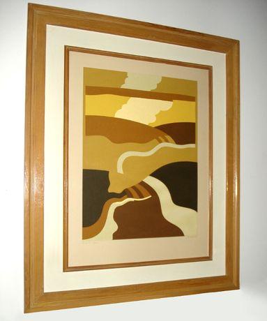 serigrafia do Pintor ARMANDO ALVES de 1980 - obra arte pintura quadro