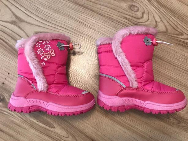 Buty zimowe kozaki dla dziewczynki dziewczęce, rozm. 28, nowe
