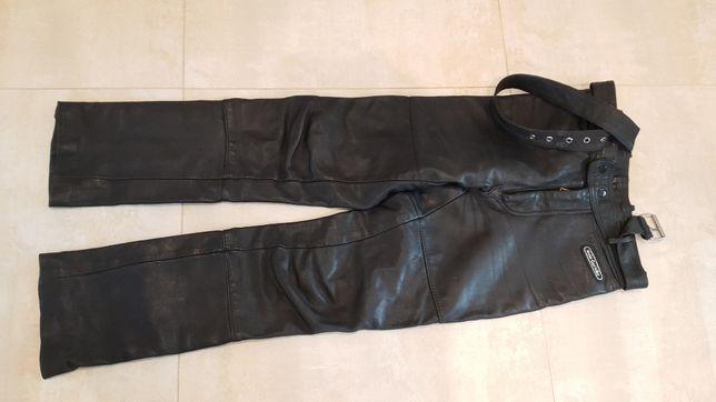 Spodnie motocyklowe Hein Gericke skóra naturalna pas 76 - 78