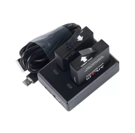 Аккумуляторы для экшн камер SJCAM SJ8, зарядное устройство 2 батареи