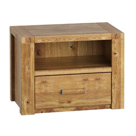 Szafka nocna z litego drewna - dębowa - do sypialni - Meble Zych