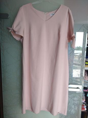 Sukienka pudrowy róż 46