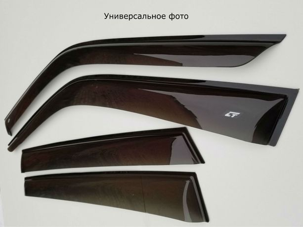 Дефлекторы окон ветровики на Ford Focus 2 2004-2011 sed/htb/wagon