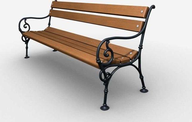 Ławka żeliwna ogrodowa, parkowa na taras id.0109