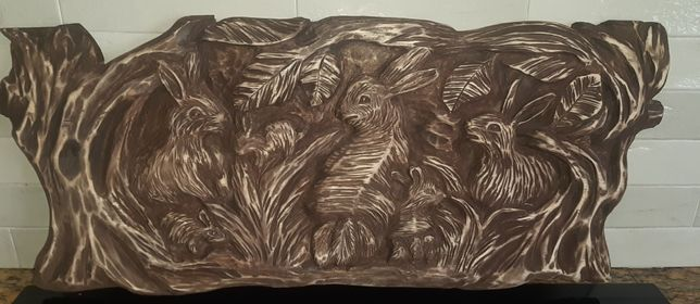 Płaskorzeźba drewno lipowe
