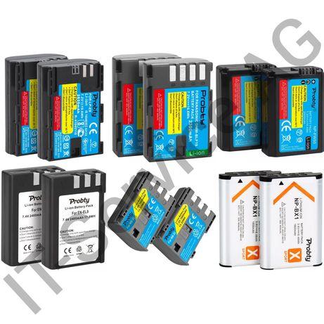 Аккумулятор NP-BX1 NP-FW50 LP-E6 LP-E10 BLF19 EN-EL9 NB-2L