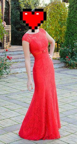 Платье рыбка красное