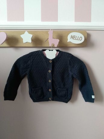 Sweterek Newbie granatowy swetr rozmiar 74