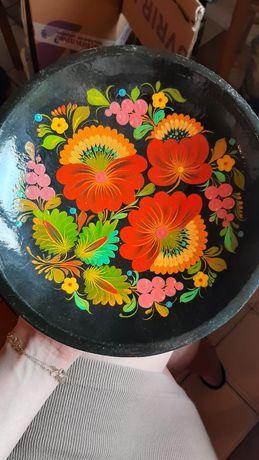 Talerz ręcznie malowany
