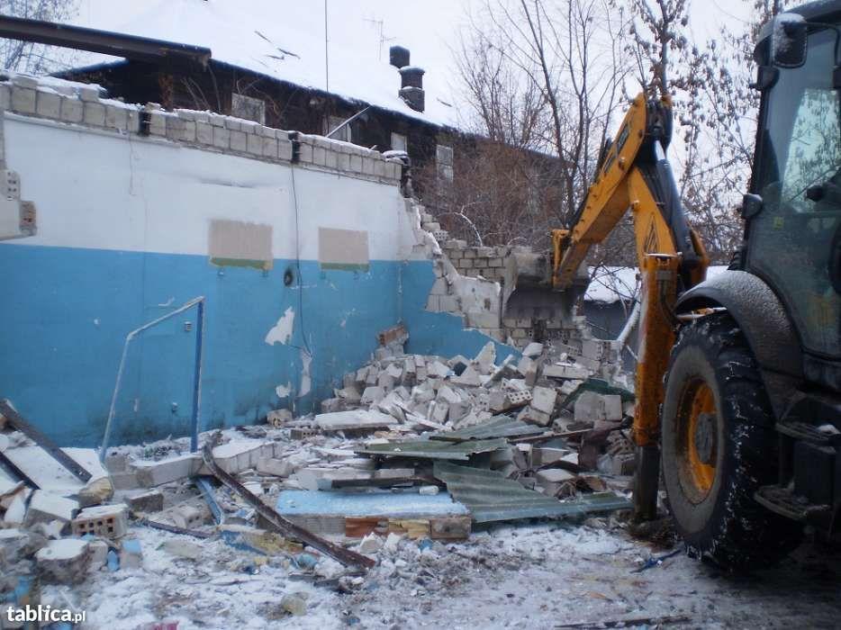 Rozbiórki , wyburzanie ,wyrywanie fundamentów równanie terenu Białystok - image 1