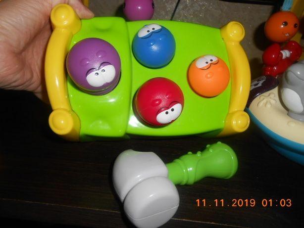 Забавная игрушка. Сортер с молотком как новый. Playschool