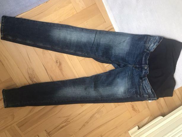 Spodnie, jeansy ciążowe h&m mama denim stan idealny