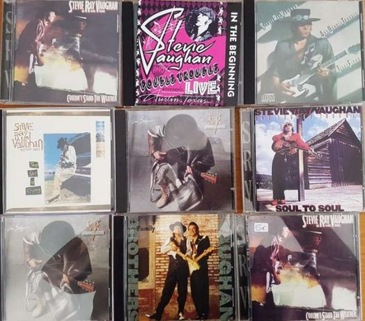 Stevie Ray Vaughan cds double trouble texas blues rock