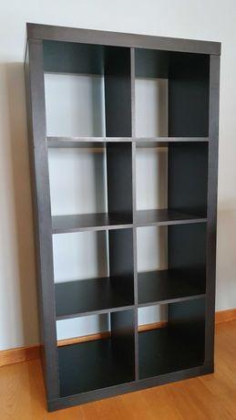 Estante Ikea kallax - cubox - 2x4 preto castanho - wengue