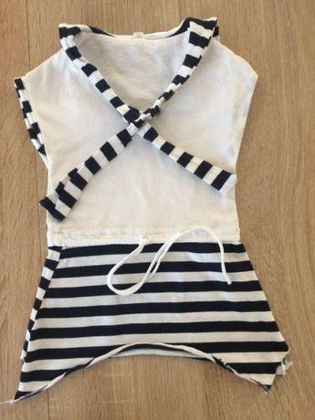 Sukienka tunika marynarska r.80