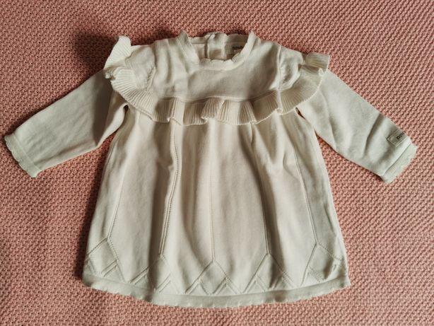 Sukienka dzianinowa Newbie 62 na chrzest, święta