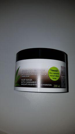Maska do włosów z olejem z konopi