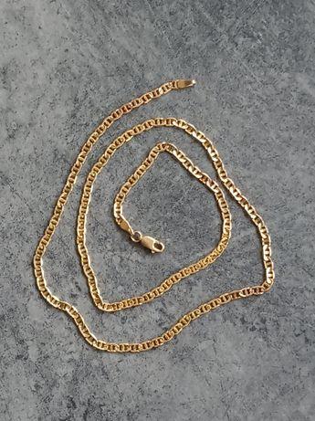 Złoty (585) Włoski łańcuszek 54cm