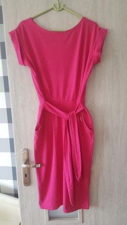 Sukienka fuksja amarant roz M L uniwersalny