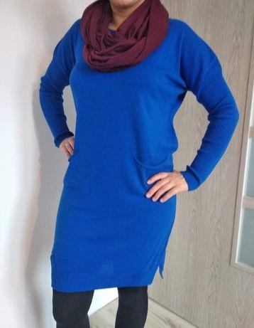 Sukienka/ sweterkotunika chabrowa !! nowe z metką