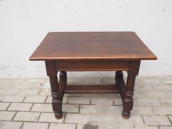 Dębowy stolik kolonialny z litego drewna 198