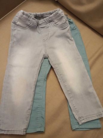 Jeansy 2x H&M 86-92 r.