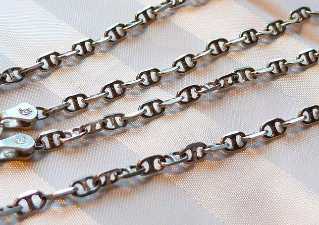 Цепь (цепочка якорка) якорная - серебро 925 - новая!