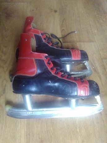 Botas (мастерские) хоккейные коньки, пр-во Чехия. СССР. 43 разм.