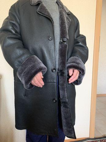 Мужская дубленка зимняя натуральная кожа
