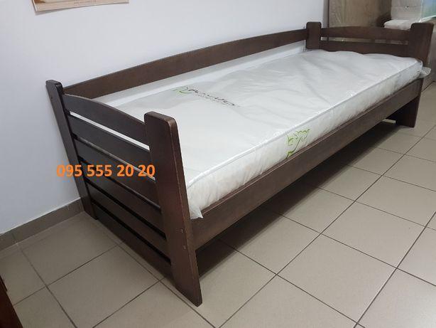 Дитяче ліжко з масиву бука 90*200 см горіх темний в Луцьку