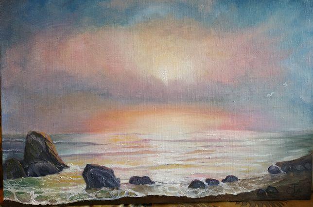 """Картина""""Рассве на море"""""""