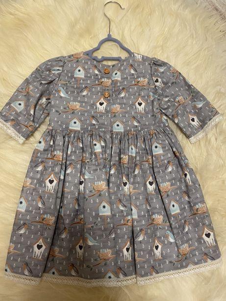 Платье для девочки р.80-86
