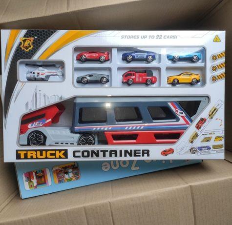 Игрушка для мальчика Набор машинок Трейлер Грузовик Автовоз с машинами