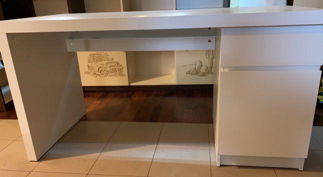 Biurko białe 140x65 cm Ikea
